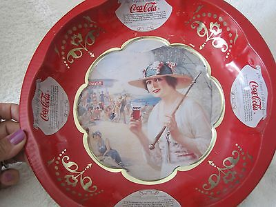 Vintage Coca Cola Red 1920's Tin Plate Dish Tray