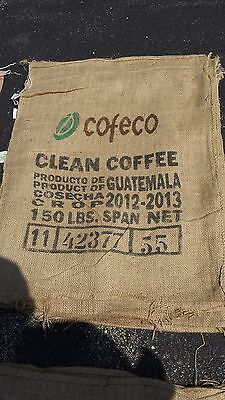 2 Authentic Burlap Jute Coffee Bean Bag Sack for Crafts Decorating See Pic's