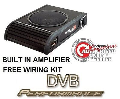 """VIBE LiteAir Optisound Auto8 8"""" Amplified Active Car Subwoofer 900w inc wiring"""