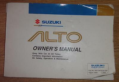 Used 1997 Suzuki Alto Owners Manual Free Uk Mainland Delivery Included