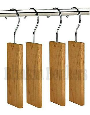4 Moth Hangers Cedar Wood Fresh Odour Clothes Deterrent Repellent Wardrobe 30B