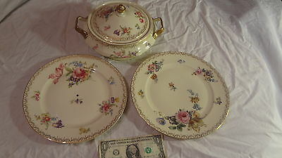 CONTINENTAL BAVARIA IVORY #18 TUREEN, PLUS BOTTOM PLATE, PLUS MATCHING PLATE