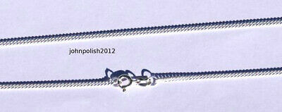 5 Very Thin Curb silver 925 sterling chains. 17.72''