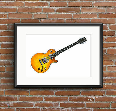 Peter Green's 1959 Gibson Les Paul Standard POSTER PRINT A1 size