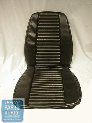 1969 Barracuda Standard White Front Seat Covers & Conv Rear - PUI