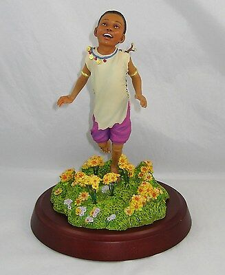 "Thomas Blackshear's Ebony Visions Ltd Ed Figurine ""THE JOYS OF SPRING"" New w/Box"