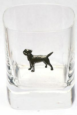 Border Terrier Pewter Emblem Pair of Tumblers Presentation Boxed Award Present