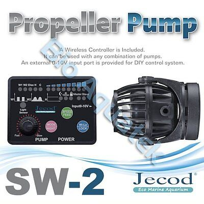 Jecod SW-2 2017 Aquarium Wave Maker Powerhead & Wireless Controller 0-10v Input
