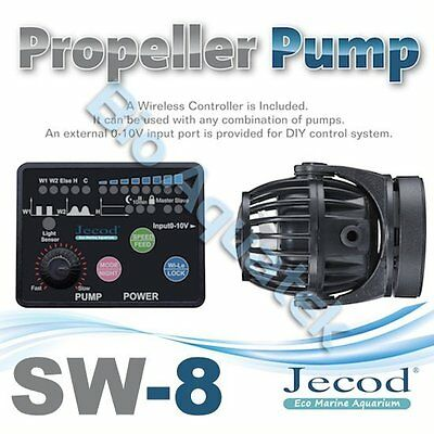 Jecod SW-8 2017 Aquarium Wave Maker Powerhead & Wireless Controller 0-10v Input