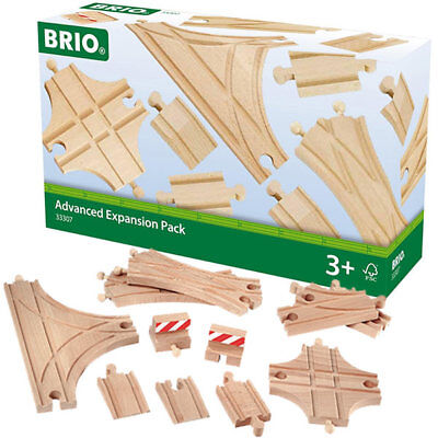 BRIO 33307 Expansion Switches Advanced Track Pack for Wooden Train Set