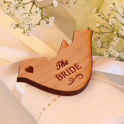 Wedding Table Decorations Personalised Name Place Setting Wooden Love Doves