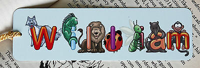 Personalised Metal Bookmark with Animal Letters,  A Present for all Readers