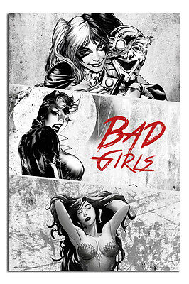 DC Comics Badgirls Black And White Poster New - Maxi Size 36 x 24 Inch