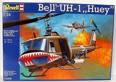 Bell UH-1 Huey Helicopter Revell #04905 1/24 Scale Military Aircraft Vietnam Era