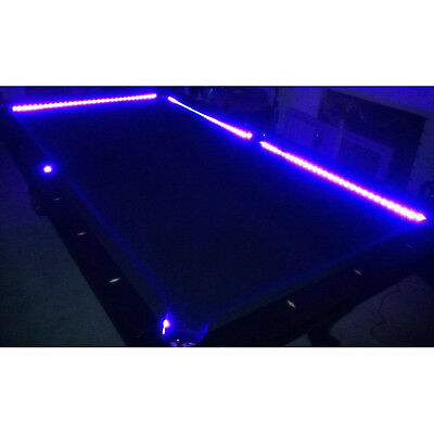 Bar Billiard Pool Table Bumper LED RGB Color Changing Light Beat To Music Remote