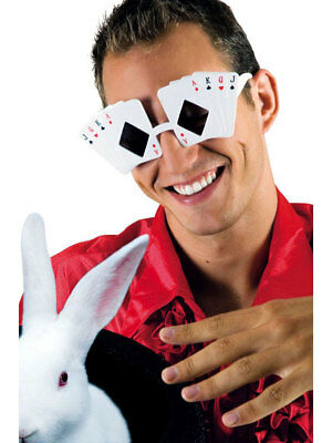Partybrille Magic Spielkarten Brille Karneval Fasching