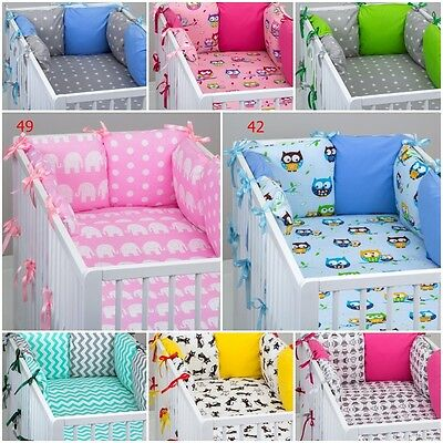 16 piece pcs COT BEDDING SET PILLOW BUMPER QUILT PILLOW CUSHION CASE COVER