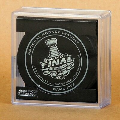 Rare 2014 Stanely Cup Final Game 5 Official Game Puck NY Rangers - LA Kings