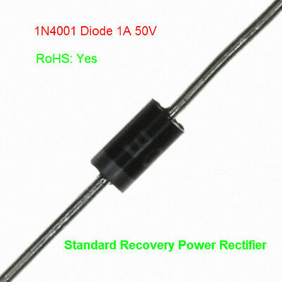 5 X 1N4001 Rectifier Diode 1A 50V DO41 - High Quality