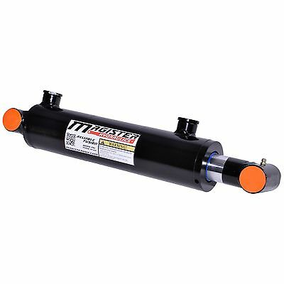 "Hydraulic Cylinder Welded Double Acting 2.5"" Bore 8"" Stroke Cross Tube 2.5x8 NEW"