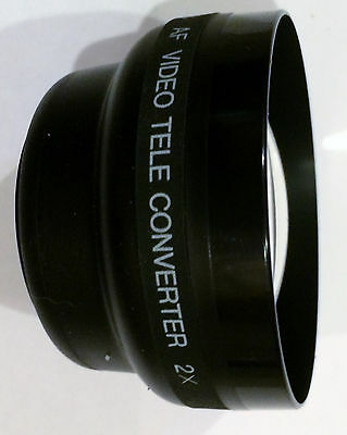 Spectralstar video lens 2X telephoto video lens, fits 46mm, 49mm ro 52mm mounts!