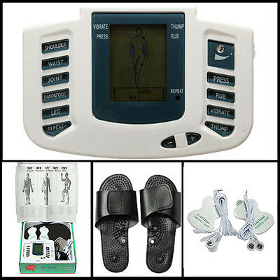 Digital LCD Pulse Acupuncture Therapy Stimulator Full Body Relax Massage Slipper