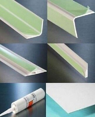Hygienic Wall Cladding Profiles To Suit our White & Pastel Coloured PVC Sheeting