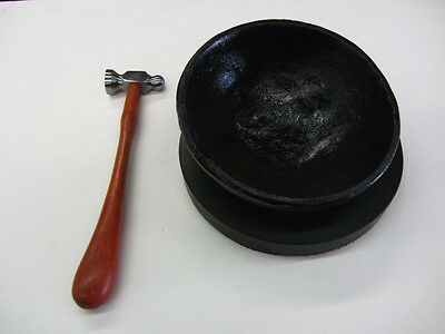 """8"""" Bowl Pad Chasing Tool Goldsmith Silversmith Repousse Hammer Supplies RAMELSON"""