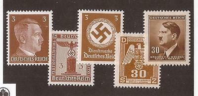 TAN Nazi Germany POST 3rd Third Reich Hitler Eagle Swastika postage stamps MNH