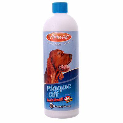 Triple Pet Plaque Off Pet Oral Care Water Additive Breath Freshener - 16 oz