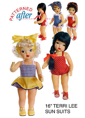 "A TRIO OF SUN SUITS CLOTHING PATTERN FOR 16"" TERRI LEE DOLL"