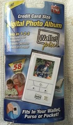Wallet Pictures Credit Card Size DIGITAL Photo Album Holds 58 Pics NIP NEW