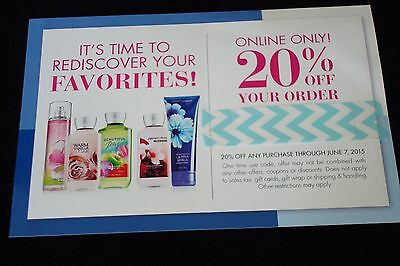 Bath & Body Works coupon~Save 20% on your entire purchase~ONLINE ONLY~June 2015
