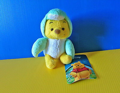 BNWT Disney 10cm Winnie The Pooh in penguin costume plush soft toy doll