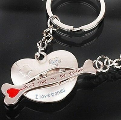1 Pair Lovers heart keychain Couples Keyring Set Cute Keyfob Gift