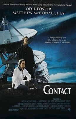 CONTACT poster JODIE FOSTER poster, MATTHEW McCONAUGHEY poster