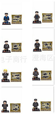 Lot Of 8 SetsSpecial Forces Minifigures Building Toys All New In Plastic Bags10