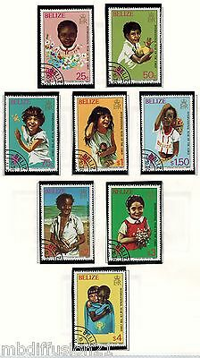1982//BELIZE/SERIE DE 8x TIMBRES OBLIT.//ANNEE INTERNATIONAL DE L'ENFANT/STAMP