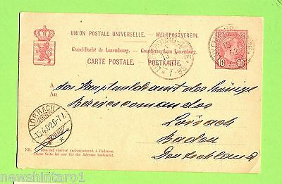 #d155.  1902  Luxemboug  Postal Card