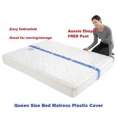 Queen Size Bed Mattress Protector Plastic Protection Cover Moving & Storage Bag