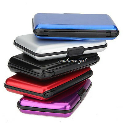 DELUXE ALUMA STYLE ALUMINUM WALLET RFID PROTECTION USA SELLER 6 COLORS