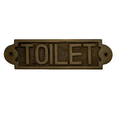 "Naiture Solid Brass ""Toilet"" Door Sign In 2 Finishes"
