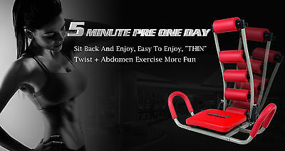 NEW  ABDOMINAL GYM FITNESS Trainer AB ROCKET TWISTER Exerciser Crunches MACHINE
