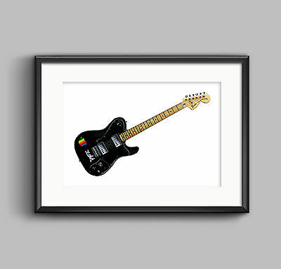 Thom Yorke's 1972 Telecaster Deluxe guitar POSTER PRINT A1 size
