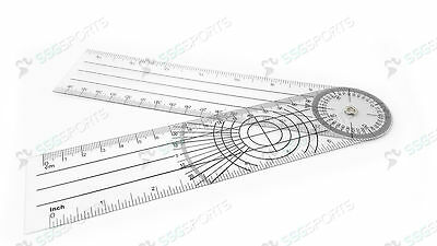 SSG Plastic Goniometer Angle Medical Ruler 360 Degree Spinal, Same Day Dispatch