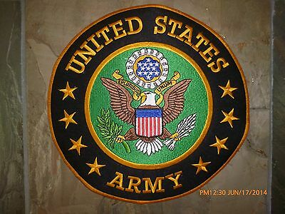 """US Army military veteran Honor Those Who Serve motorcycle Vest 10"""" Back patch"""