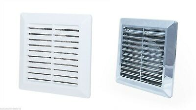 Air Vent Grille with Fly Screen / External Internal Ducting Ventilation Cover