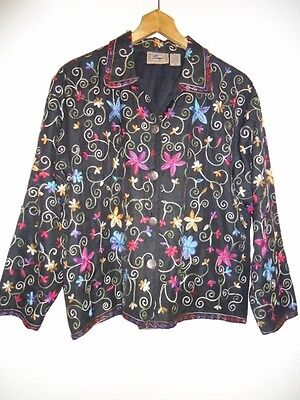 Don't Mess with Texas-Women's Silk Jacket Western Native-MULTI-COLOR SIZE M