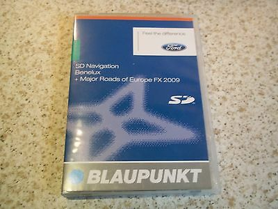 FORD SD CARD SAT NAV DISC SATELLITE NAVIGATION BENELUX + MRE FX 2009 FREE POST
