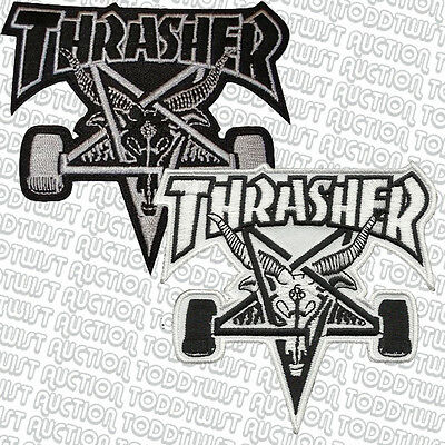 THRASHER  Iron on / Sew on Skateboard Patch - Skate Goat Logo - Assorted colours